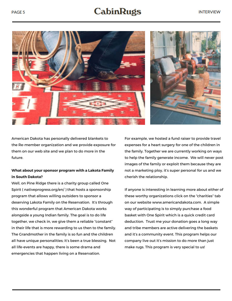CabinRugs Article