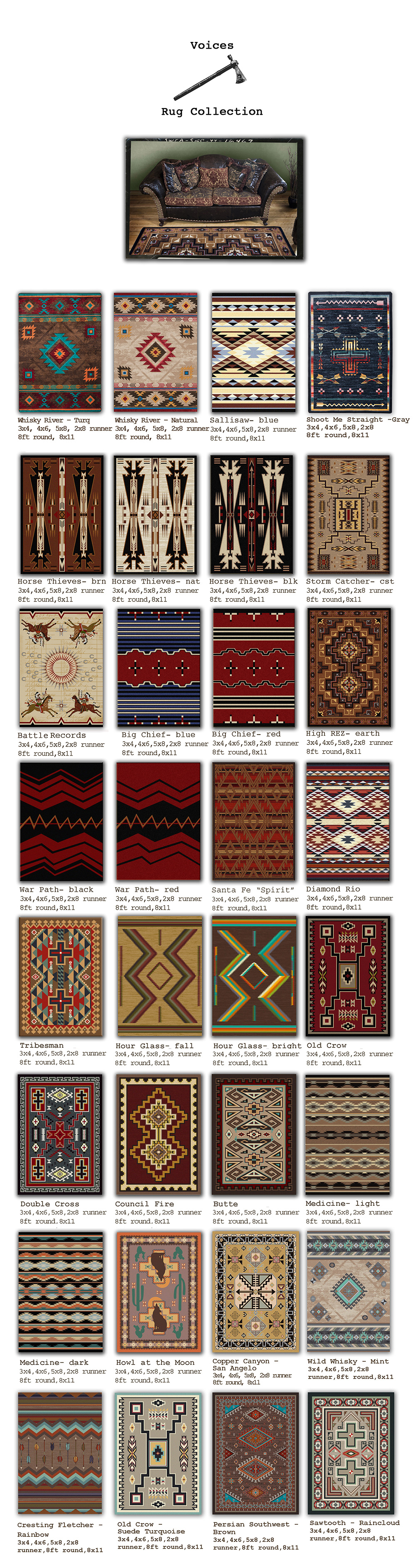 rug for wood